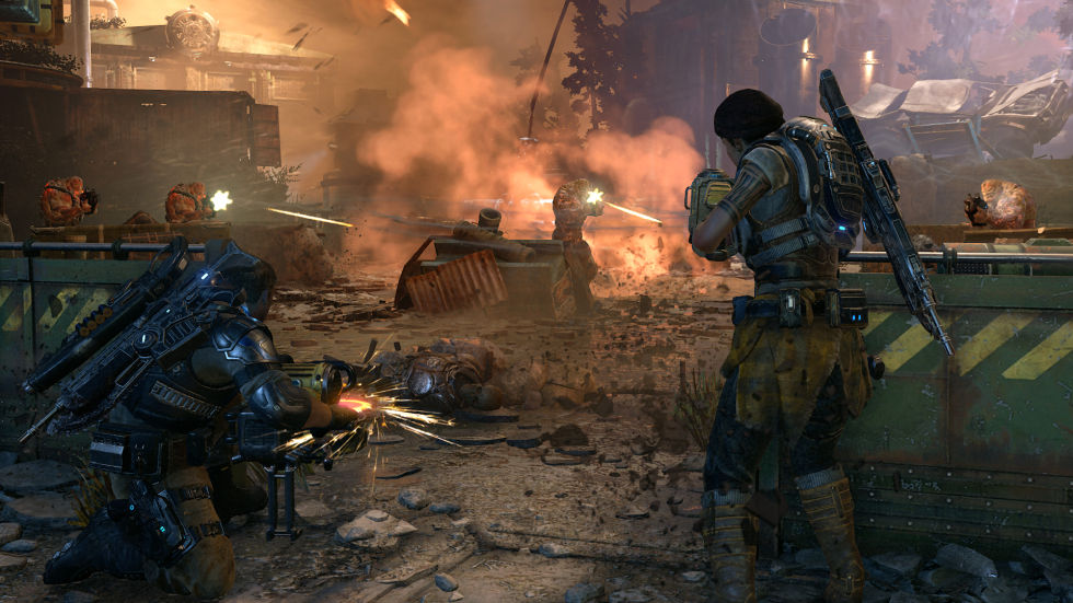 <em>Gears of War 4</em> looks amazing in 4K.