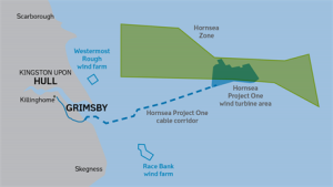 A map of the Hornsea Zone, where the various Projects will be located.