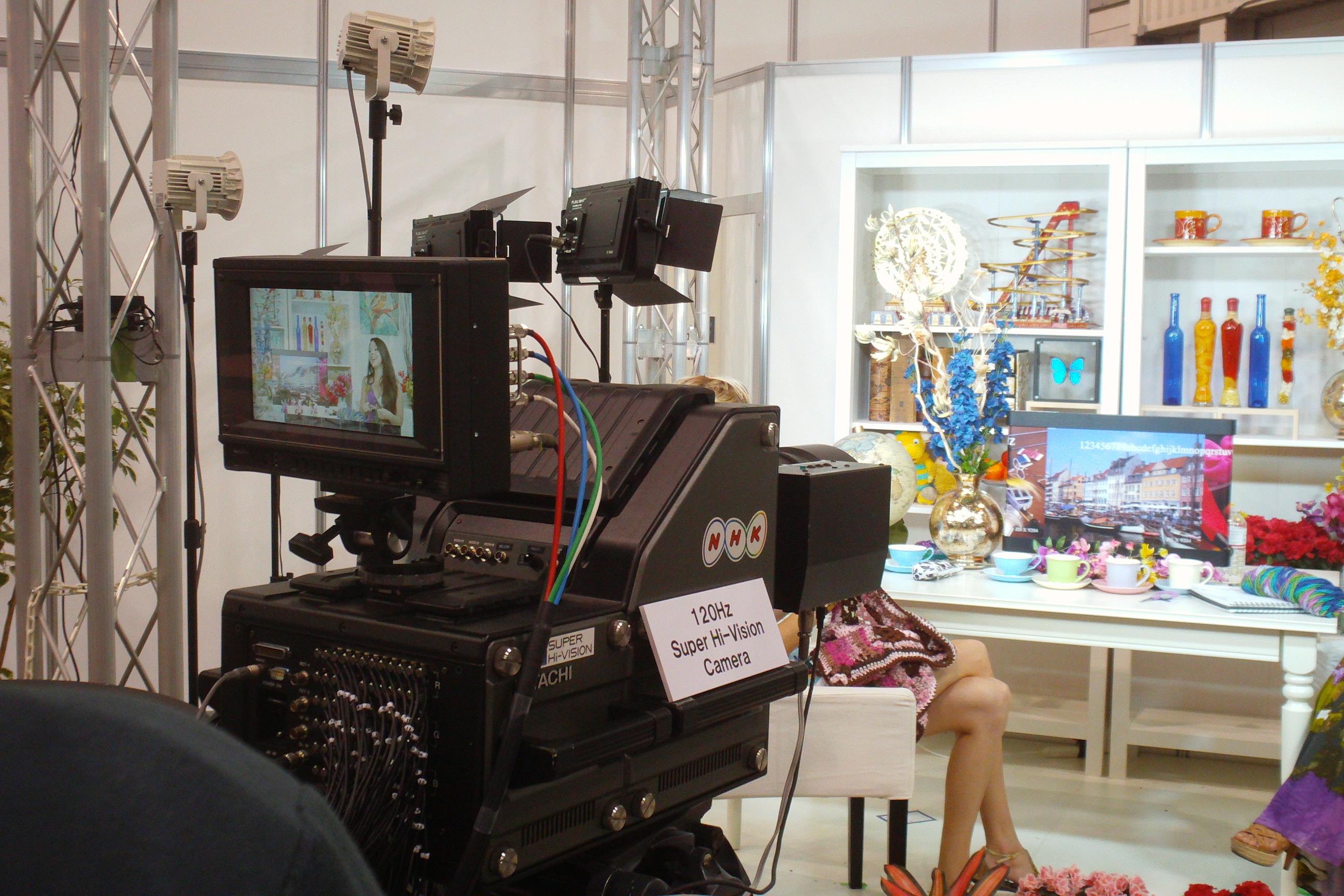 An 8K camera, shown at NAB in 2013.