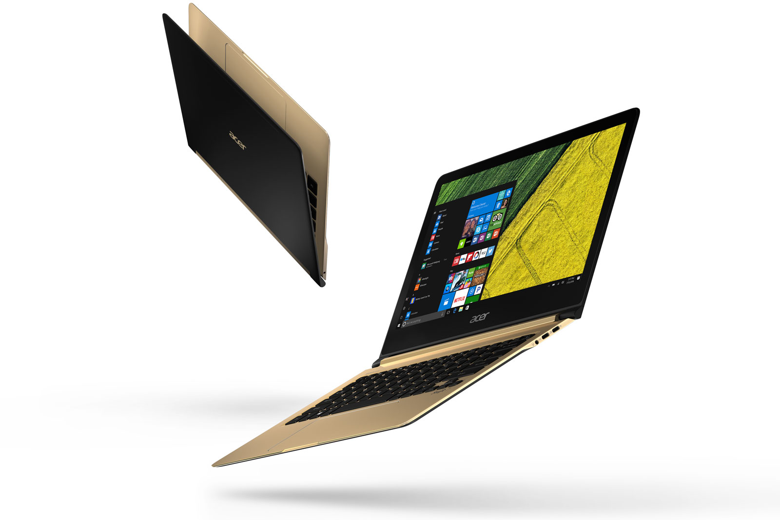 The Acer Swift 7, free falling.