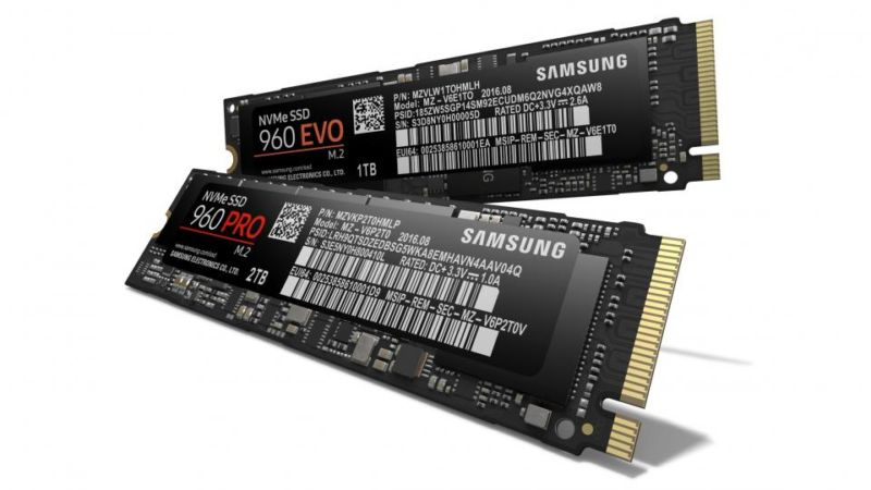 Samsung unveils crazy-fast 960 Pro and 960 Evo M.2 NVMe SSDs