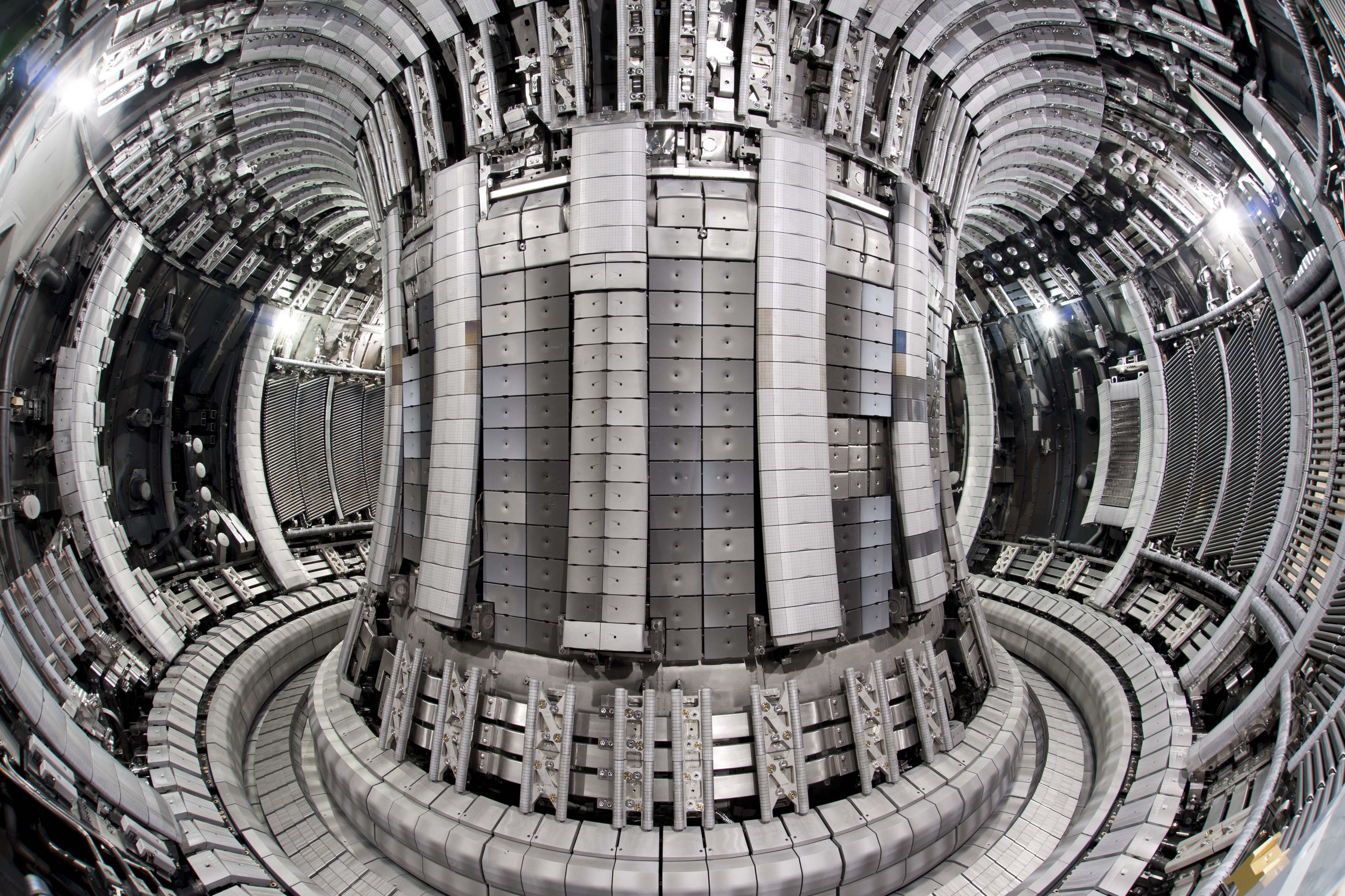 The interior of the JET plasma fusion tokamak thing.