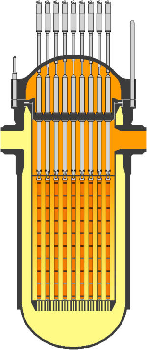 A rather unhelpful, unlabelled diagram of the EPR nuclear reactor.