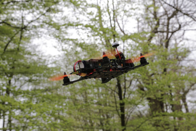 FPV drone racing at Cowdury Park Estate, West Sussex
