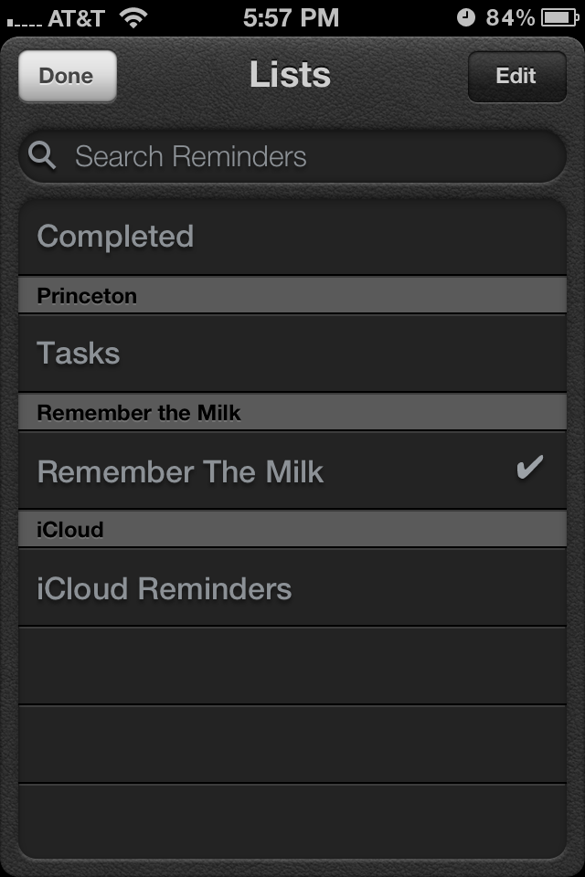Remember the Milk can be used with the iOS Reminders app, Siri included.