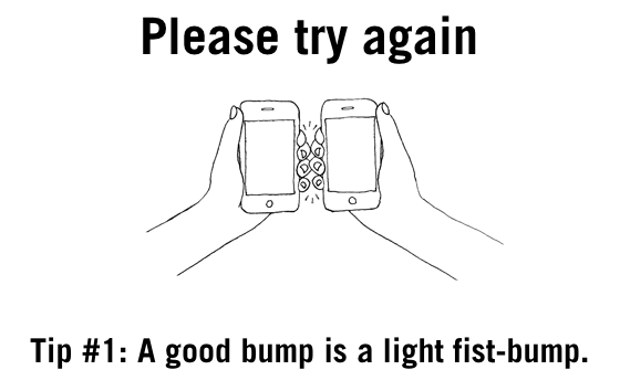 """A good bump is a light fist-bump."""