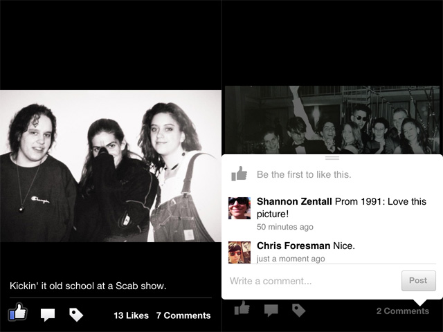 Reliving the past though old photos is even easier with Facebook Camera.