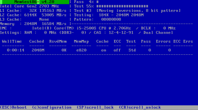 MS-DOS chic: MemTest86+ is the mother of all memory testers.
