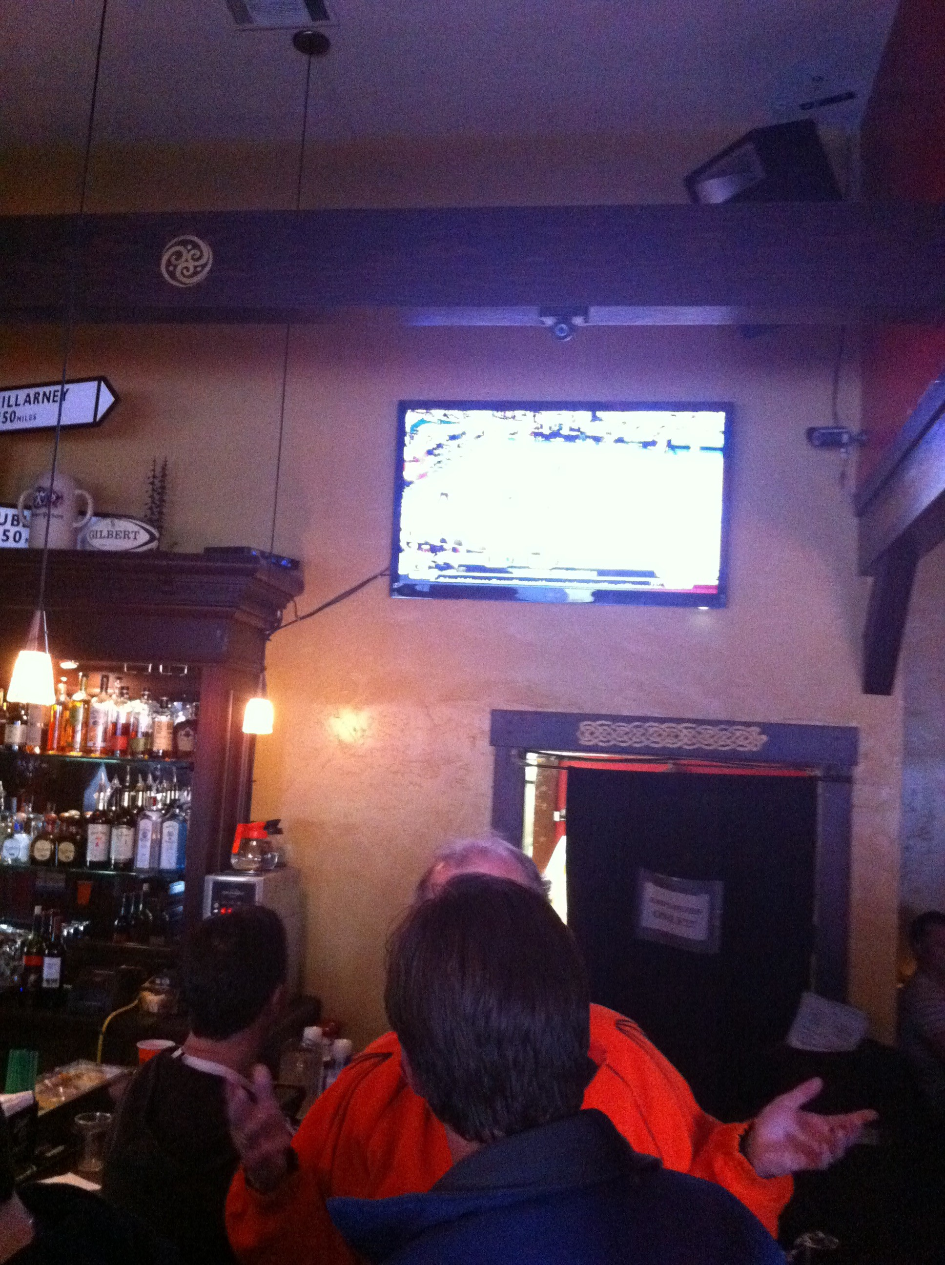 SceneTap's camera is mounted just above one of the TV screens at Polo Grounds