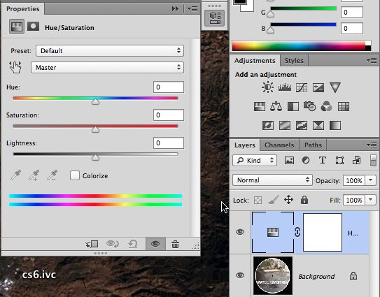 Notice it also handles the mask options in CS6, where it was a  divide panel in CS5.