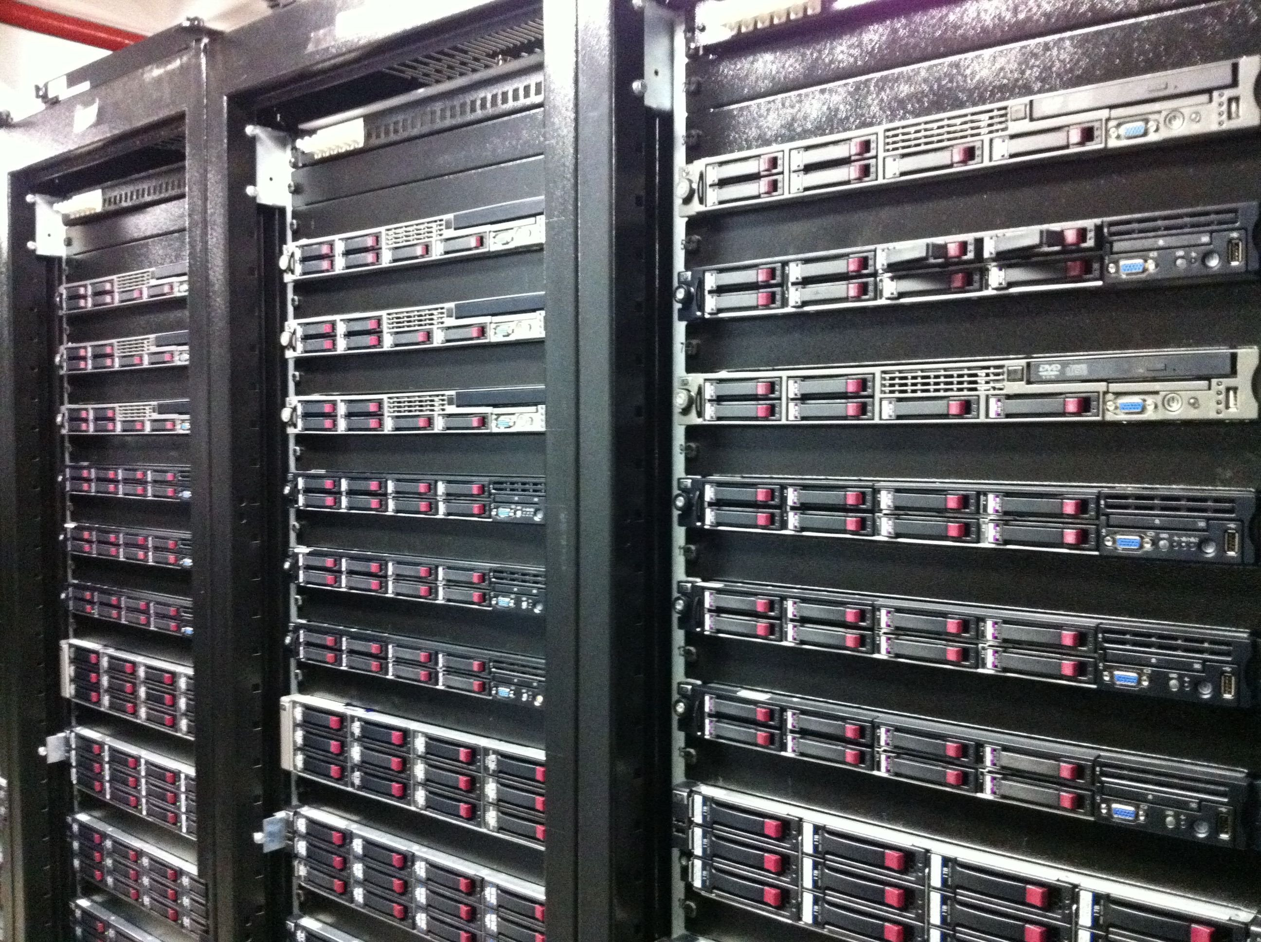 A view inside Mimecast's current data center in South Africa