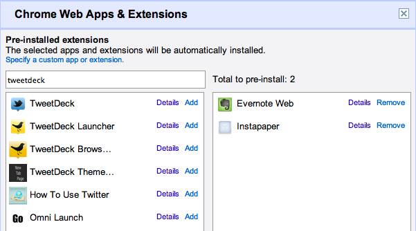 Installing and extensions is the Chrome OS equivalent of installing managed applications.