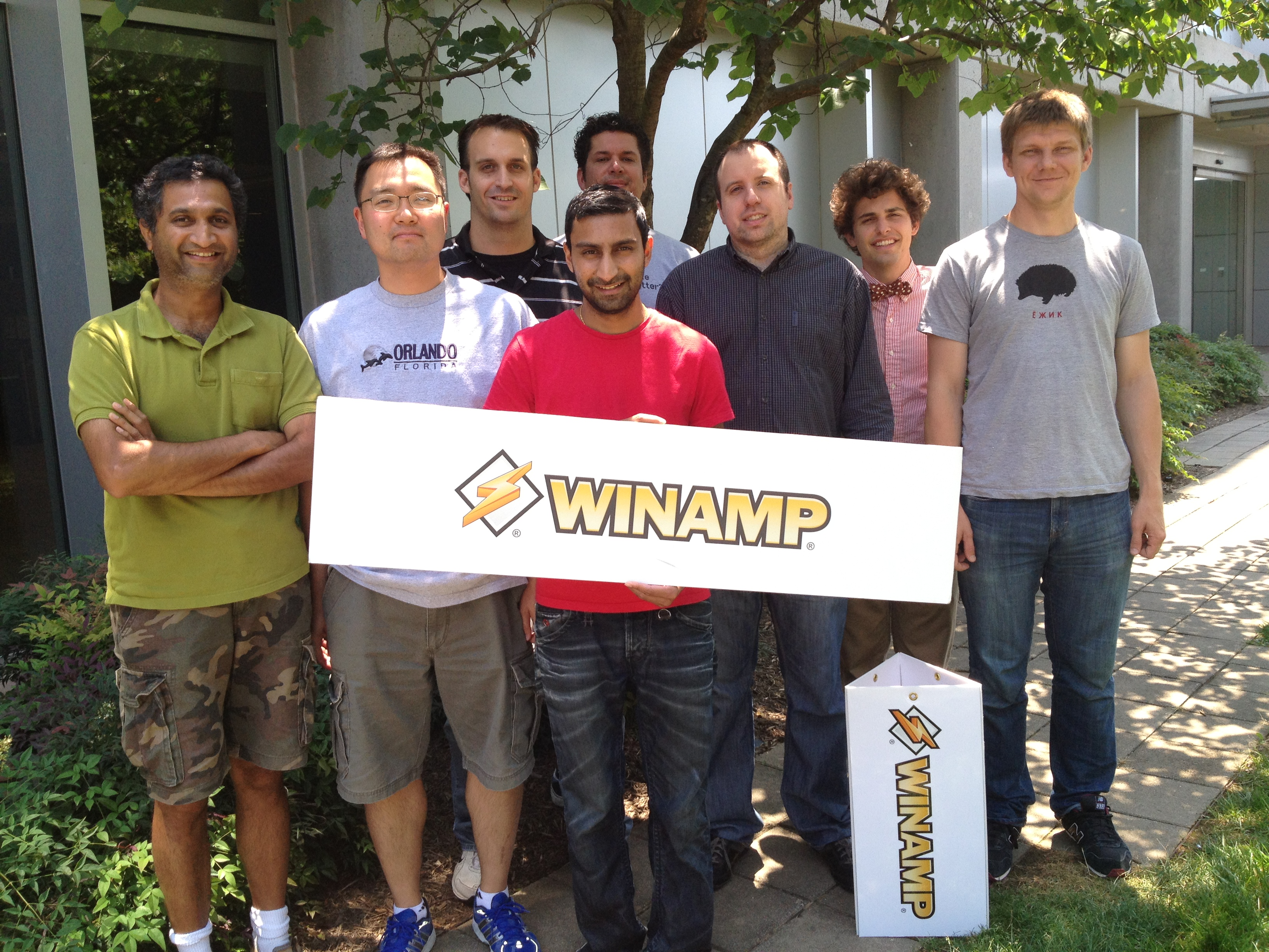 The Dulles-based Winamp team, as of 2012.