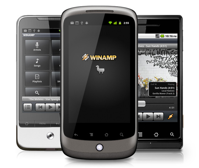 Winamp lives—AOL released a version for Android in 2011.