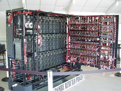 "A replica of the Bletchley Park ""Bombe"""