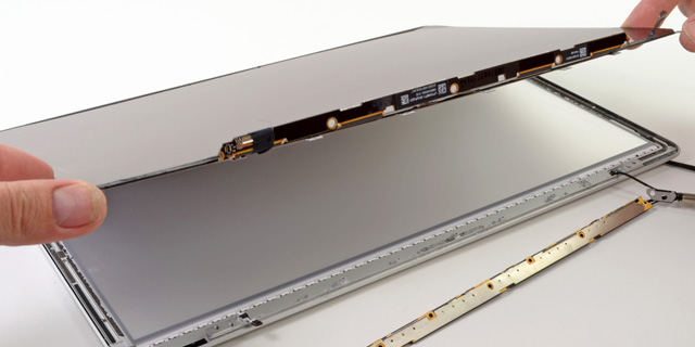 The 1.5mm panel is contained in the display casing, which totals just 7mm at its thickest point.