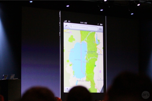 Apple's new, independently developed Maps application