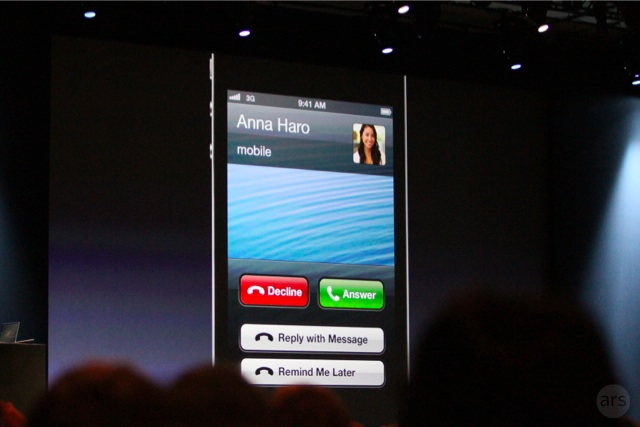 iOS 6 offers new buttons to deal with inconveniently timed calls.