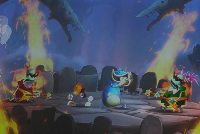 <em>Rayman Legends</em> features endearing hand-drawn art.