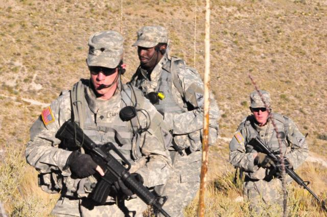 Soldiers testing the JTRS Rifleman Radio, a voice and data radio that will start deploying in 2013