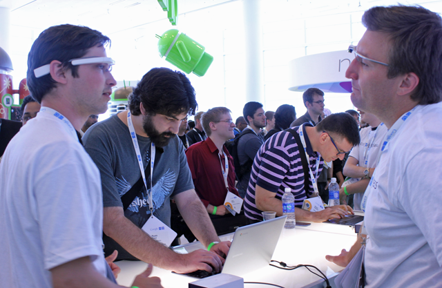 Pre-ordering the Google Glass Explorer Edition at Google I/O.