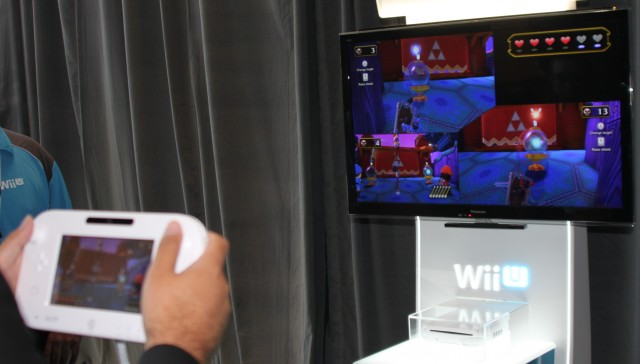 While aiming arrows with the GamePad screen is fun, it's not quite as intuitive as anything in <em>Wii Sports.</em>