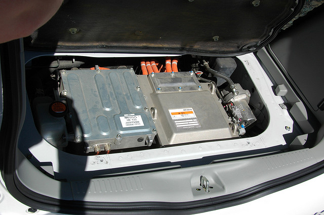 The brains of the i-MiEV's powertrain