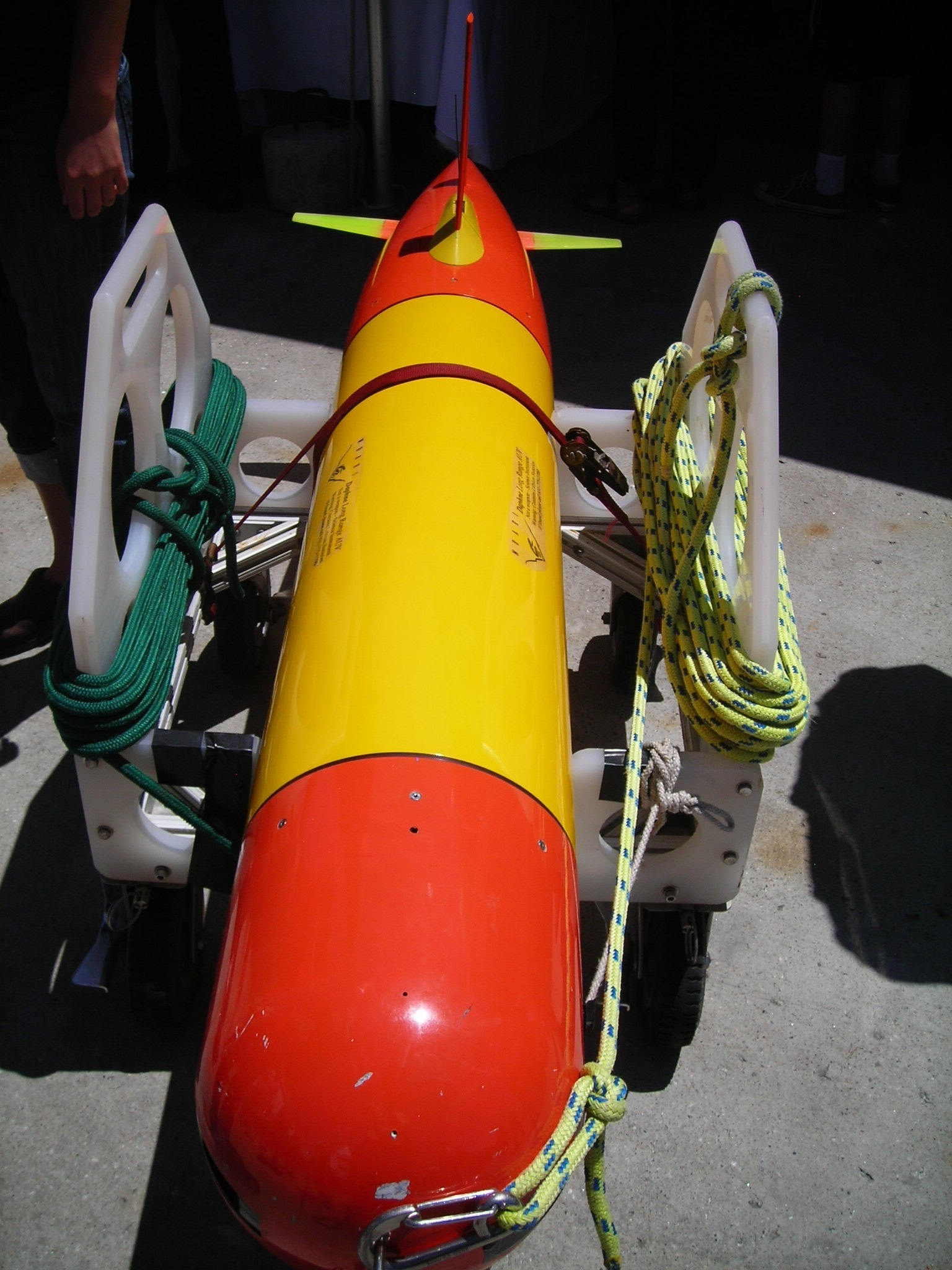 One of the smaller Autonomous Underwater vehicles, the Tethys
