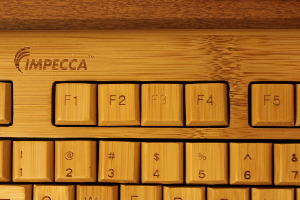 There's not much contrast between the print on the keys and the keys themselves anyway, but some keys, like the F3 key shown above, are even lighter than the others.