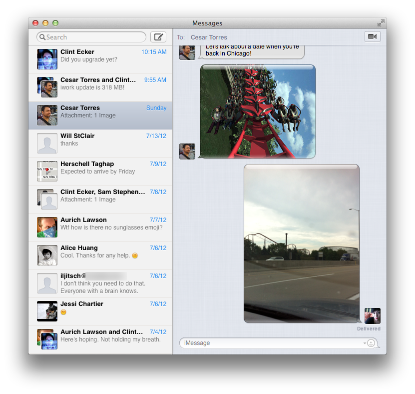 Send lots of text messages to your iOS-using friends? Now you can text them from the desktop, too.