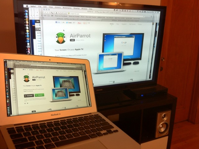 AirParrot worked well with a 2010 Core 2 Duo MacBook Air.