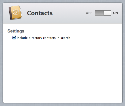 There's not much to do for the Contacts service.
