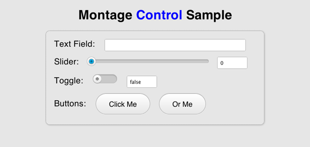 Montage control sample