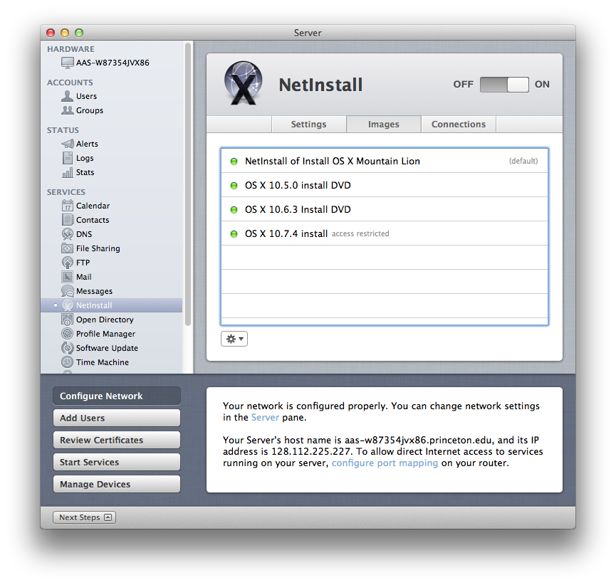 NetInstall can host bootable images for multiple OS X versions at once, so you can support older Macs even if they don't support Mountain Lion.