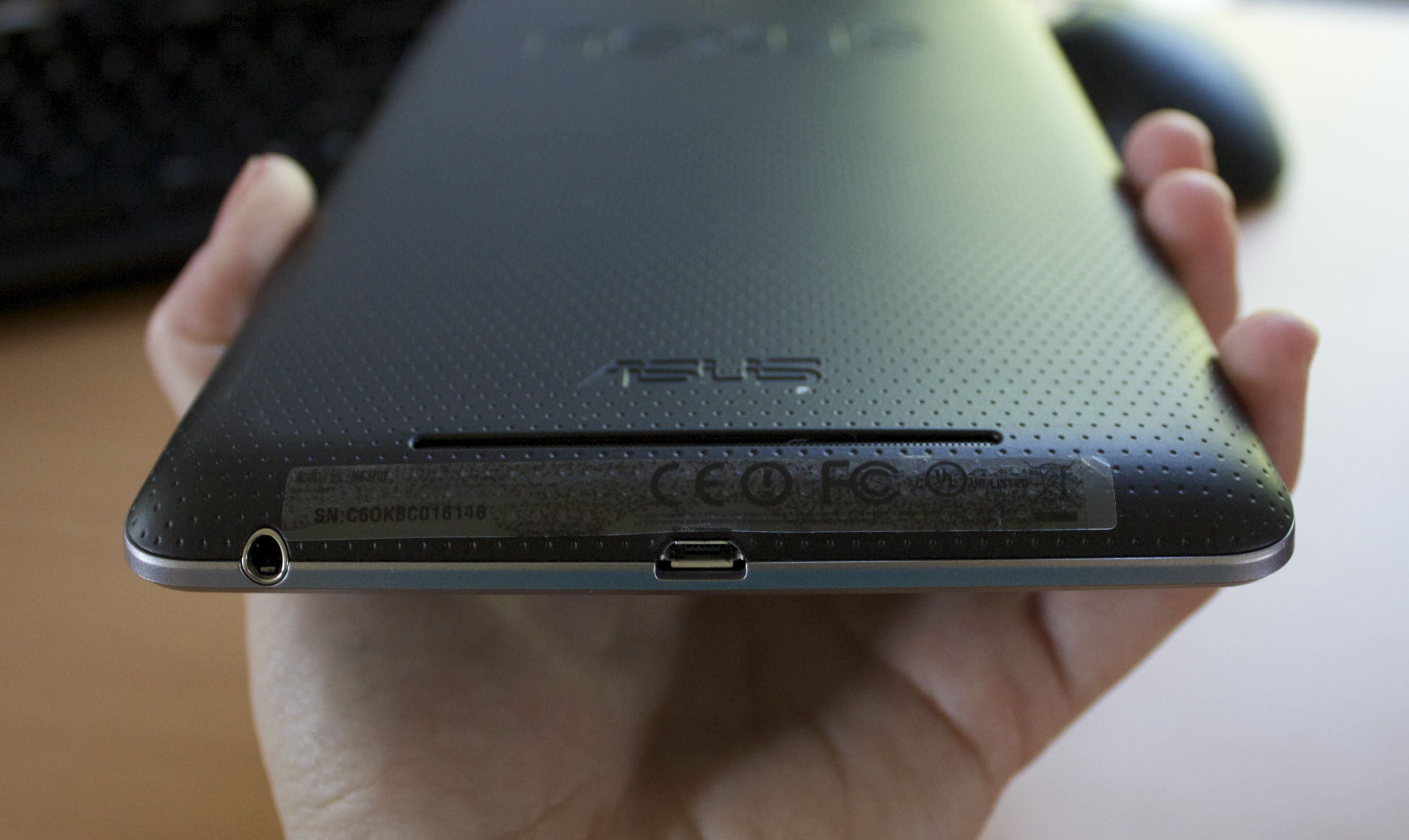 The slot where the Nexus 7's speaker sits.
