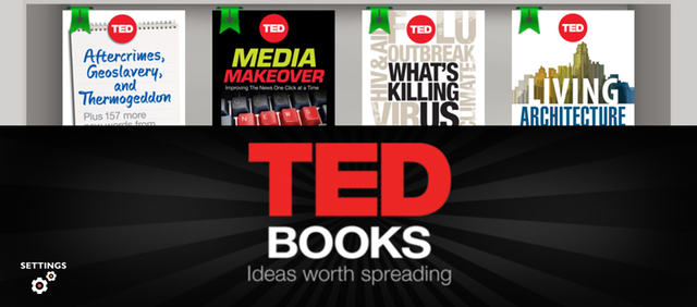 It doesn't seem so obvious on many of our average computer screens, but the TED Books banner at the bottom of the app is still visibly blurry on the iPad.