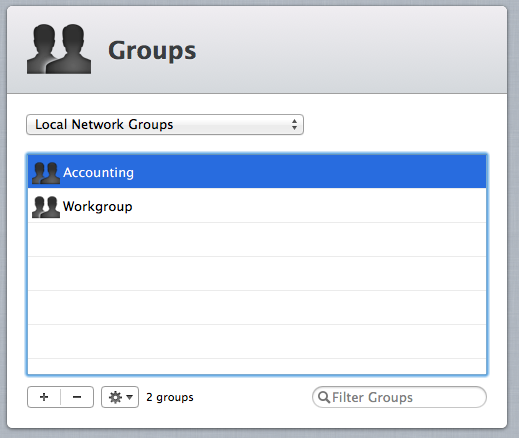 Managing large numbers of users with Groups is more convenient than managing them individually.