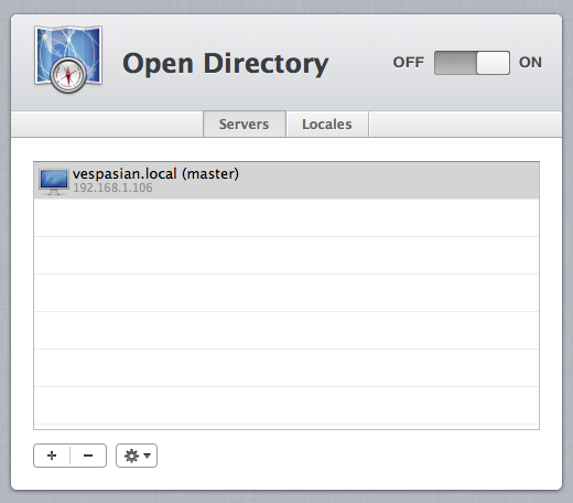 The Open Directory service is Apple's version of Microsoft's active Directory.