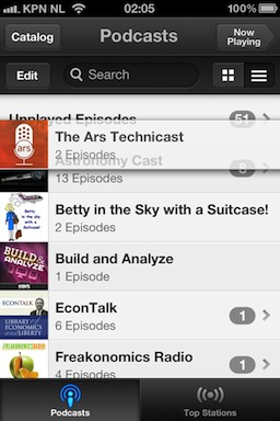 Podcasts 1.0.1's weird behavior