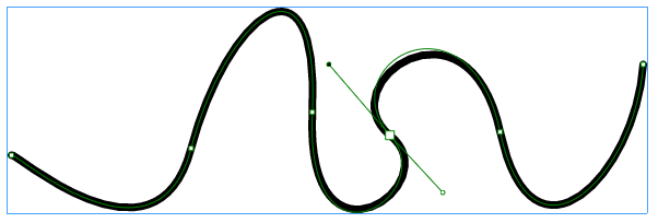 Creating bezier curves with the Pen tool