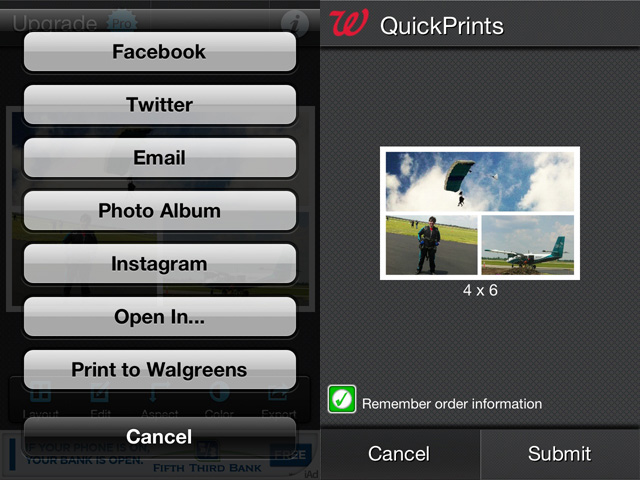 Pic Stitch is one of several apps that already integrate Walgreens' Quick Prints API.