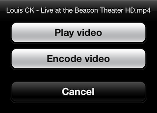 You can either play videos with live conversion, or by pre-encoding them if you want to reduce your processing load.