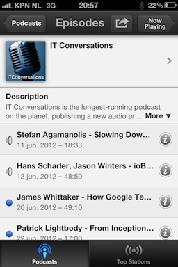 Podcasts is easily confused