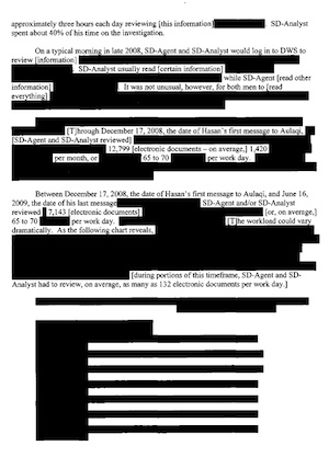 Parts of the Webster commission report were heavily redacted.