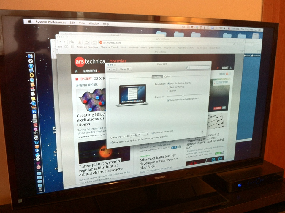 Mountain Lion AirPlay mirroring v  AirParrot: fight! | Ars Technica