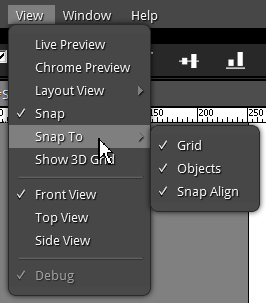 Snap align options