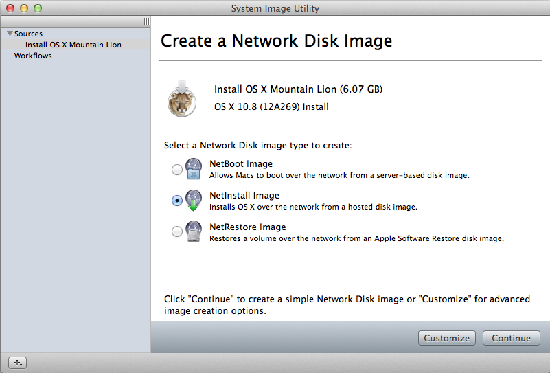 The System Image Utility can make NetInstall images from bootable volumes and OS X installers from the Mac App Store.