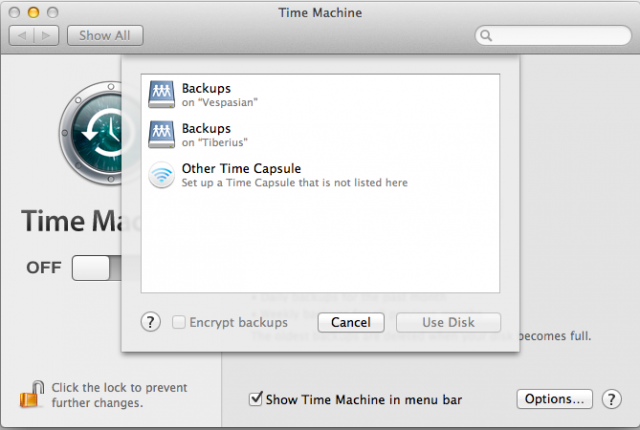 Two Time Machine servers are available on my network, and my OS X client found both of them without issue.