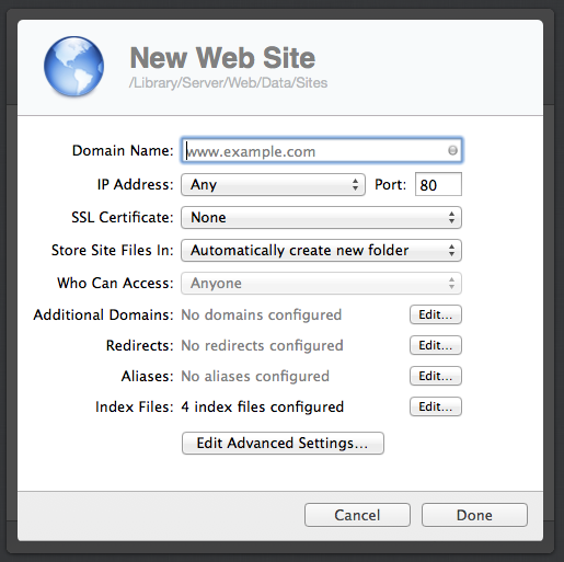 You can create as many recent  sites as you occupy space and bandwidth for.