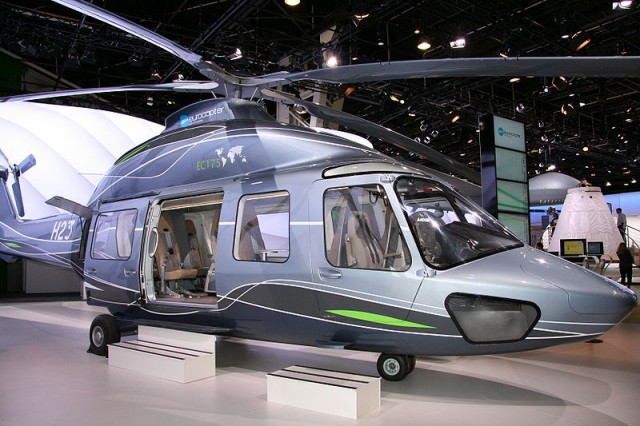 The Eurocopter EC175, the basis for the Chinese Harbin Z-15 medium helicopter, at the 2009 Paris Airshow.